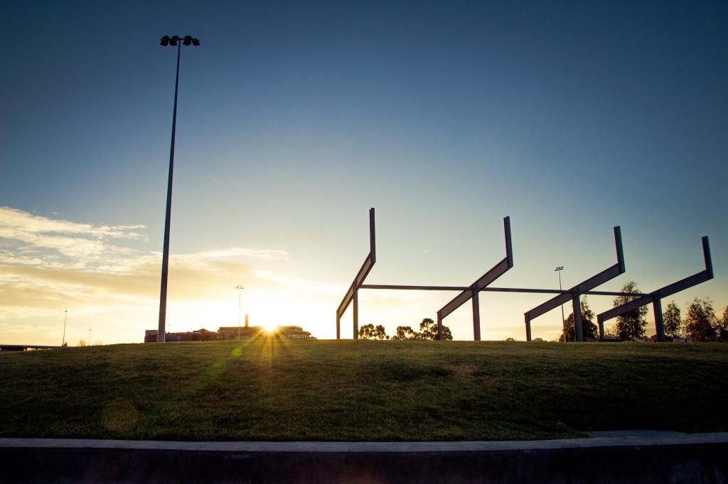 Sun rises over Victoria Park