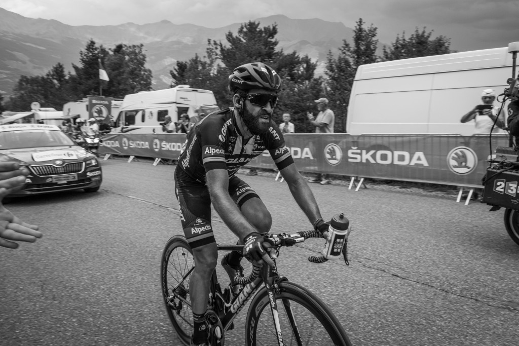 Geschke on his way to a stage win at Pra Loup