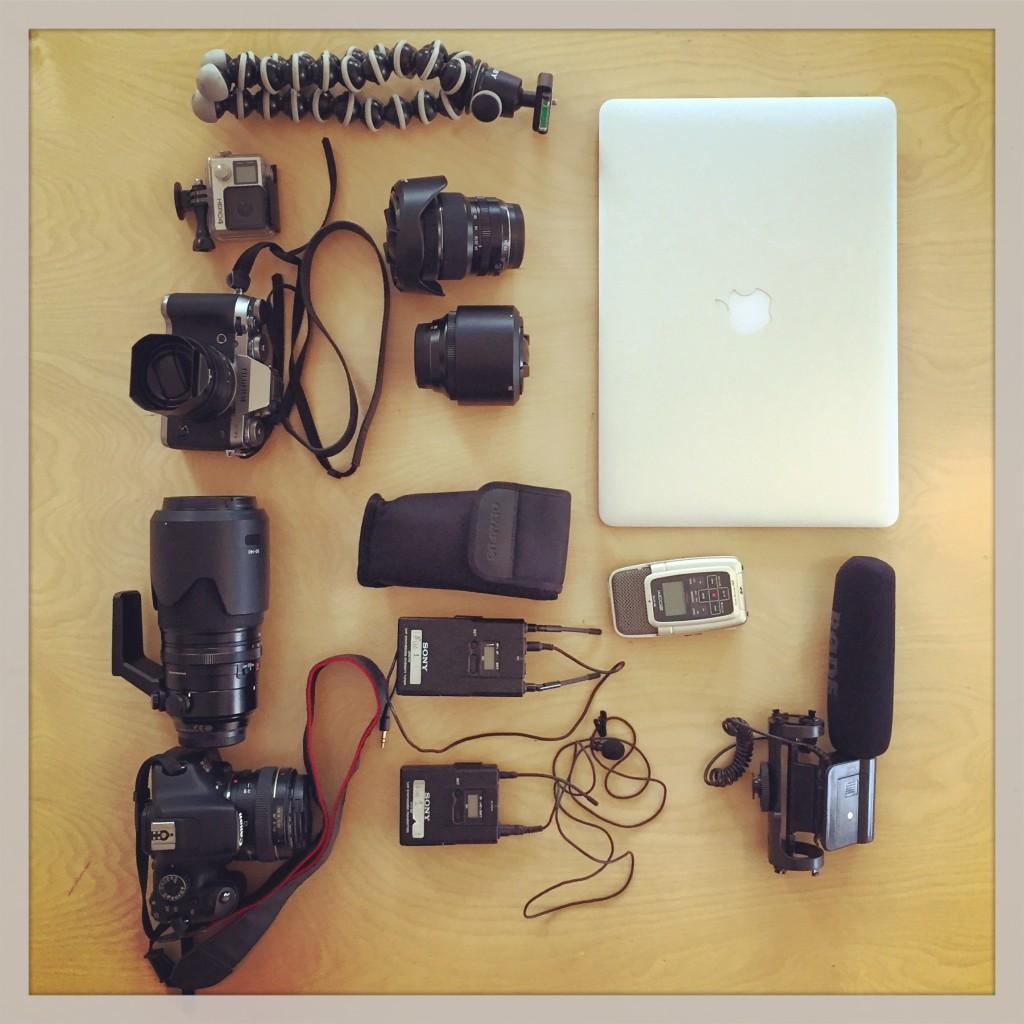 Fuji, Canon & GoPro...and it all fits in a backpack!